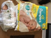 Pampers and Naty Nappies Size 1 - FREE