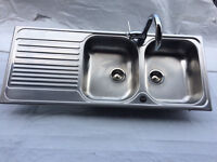 Blanco Double sink & mixer tap, as new, never used.