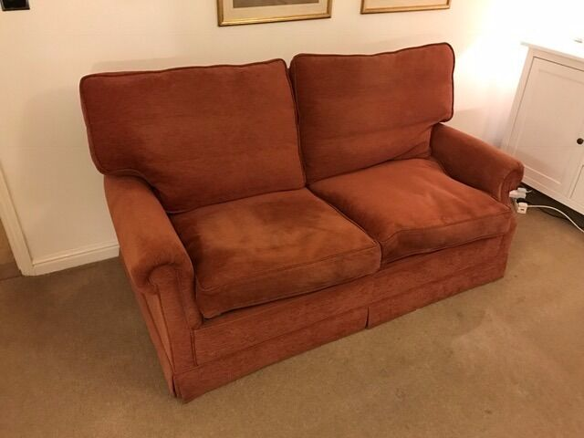 Sofa Bed for Sale85 ONOin Hackney, LondonGumtree - Sofa bed for sale. £1,500 new. In excellent condition. Must be collected. 2.5 seat sofa 170cms wide, 97 cms deep Enclosed bed 310 x 6. Mechanism still works as new. Feather seat and back cushions Stain guarded Georgia Weave fabric. Colour is redder...