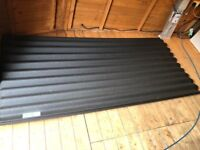 Black Corrugated Roofing 7 sheets Coroline