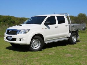 2013 Toyota Hilux KUN26R MY12 SR (4x4) White 4 Speed Automatic Dual Cab Pick-up East Rockingham Rockingham Area Preview