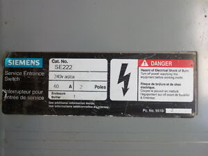 Siemens 60A Service Entry Switch Peterborough Peterborough Area image 2