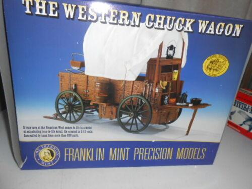 Franklin Mint Western Chuck Wagon 1/16 NEW  NEVER DISPLAYED RARE!