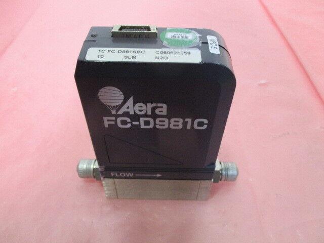 Aera FC-D981SBC Mass Flow Controller, MFC, N2O, 10 SLM, 410151-021, 421378