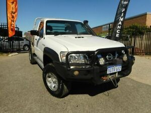2013 Nissan Patrol DX MY11 UPGRADE LEAF White 5 Speed Manual Cab Chassis Wangara Wanneroo Area Preview