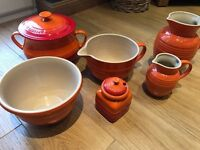 Le Creuset Stoneware collection in Volcanic orange