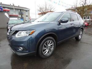 2015 NISSAN ROGUE SL AWD TECH (TOIT PANO, CUIR, BT, NAVI, FULL!)