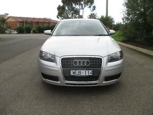 2008 Audi A3 8P Sportback 1.6 Attraction Silver 6 Speed Tiptronic Hatchback Hoppers Crossing Wyndham Area Preview