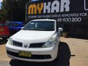 2009 Nissan Tiida C11MY09 ST White 4 Speed 4 SP AUTOMATIC Hatchback Islington Newcastle Area Preview