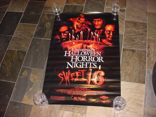 "new UNIVERSAL Halloween Horror Nights 2016 HHN 16  SWEET 16 POSTERS 36"" x 24"""