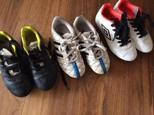 3 x pairs of kids soccer boots Merewether Heights Newcastle Area Preview