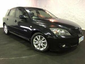 2007 Mazda 3 BK10F2 MZR-CD Black/Grey 6 Speed Manual Hatchback Derwent Park Glenorchy Area Preview