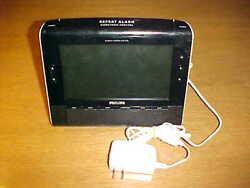 Philips Alarm Clock Radio AJL308 & DVE Switching Adapter DSA-9W-09 Works DB