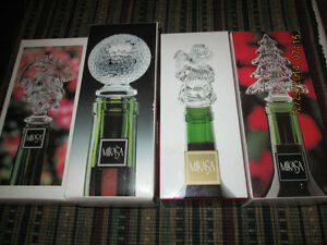 4 NEW IN THE BOX MIKASA WINE BOTTLE STOPPERS**SOLD SEPERATELY** London Ontario image 1