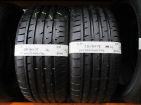 W20 2X 235/35/19 ZR CONTINENTAL SPORT CONTACT 3 2X8MM TREAD