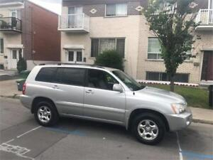 2003 TOYOTA HIGHLANDER- automatic- AWD***- 4 CYLINDRES   4000$