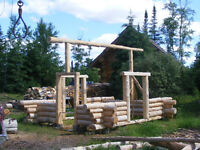 Handcrafted Log A-Frame Cabin