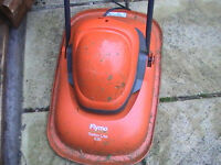 lawnmower - Flymo turbo lite 330 - red with long electric cable