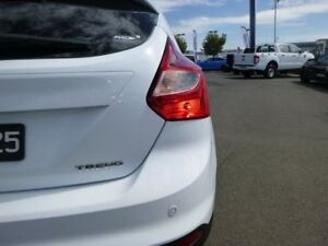 2014 Ford Focus LW MKII Trend PwrShift Frozen White 6 Speed Sports Automatic Dual Clutch Hatchback