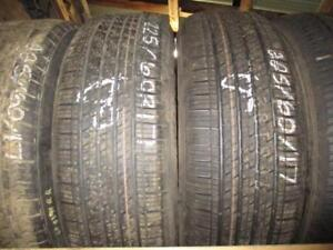 225/60 R17 CONTINENTAL 4x4 CONTACT BRAND NEW (DISCONTINUED) TIRES (SET OF 2) - 100% TREAD