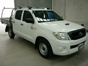 2010 Toyota Hilux KUN16R MY10 SR 4x2 White 5 Speed Manual Utility Grovedale Geelong City Preview