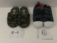 Boys BRAND NEW Mothercare denim trainers size 11 & TU Slippers size 10-11 (£3 for both together)