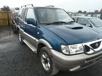 breaking blue nissan terrano 2.7 turbo diesel 4x4 manual