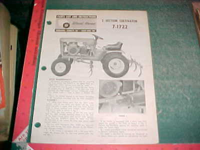 Wheel Horse 2 Section Cultivator 7-1722 Instruction Parts List Good