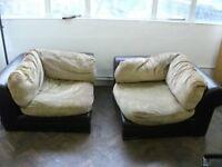 2 Large Single Corner Sofas or Seats