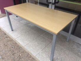 Maple 1.6m straight office desk