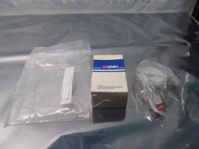Span S122 Pressure Gauge, AMAT 3310-01052, 13-0847-01, 0-30IN, HG 316LSS, 102221