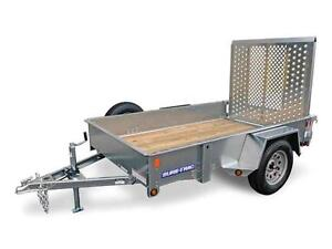 High Sides Galvanized 5X8 Trailer