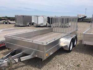 8.5ft x 14ft Open Utility, All Aluminum Landscape Trailer