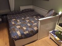 IKEA Hemnes day bed with two IKEA pocket sprung mattresses