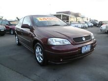 2003 Holden Astra TS MY03 SXI Burgundy 5 Speed Manual Hatchback Heatherton Kingston Area Preview