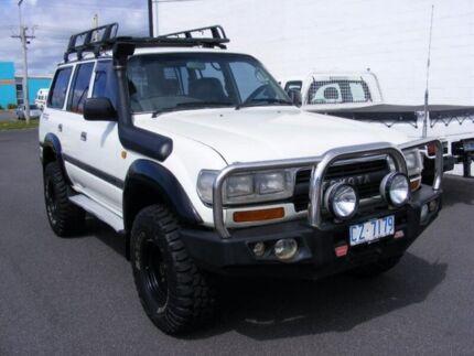 1991 Toyota Landcruiser FJ80R GXL White 5 Speed Manual Wagon