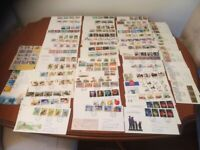 First day cover postage stamps