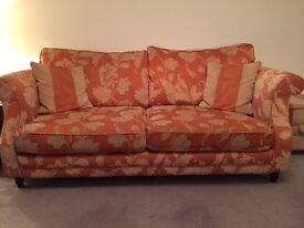 Sofa and Storage Footstool FREE needs collecting.
