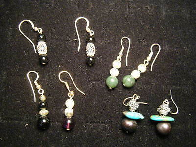 Group of 3 Pairs 1980s stone hanging earrings all for one money plus a bonus](Costumes For A Group Of 3)