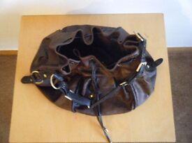 ** REDUCED PRICE ** Ladies NEXT dark brown mock leather bag