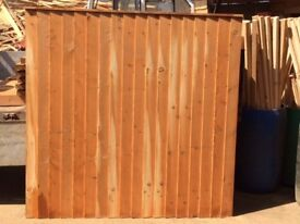 Closed Board Larch Fencing Panels