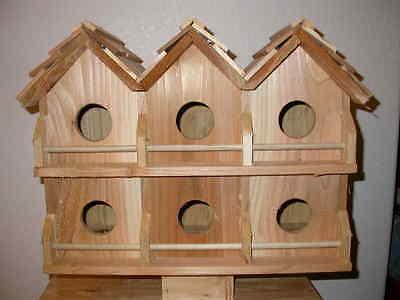 Wood 6 Room Deluxe Purple Martin Bird House (Cedarnest) FREE SHIPPING HANDMADE