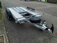 CAR TRANSPORTER TRAILER FLAT BED 4,0 m x 1,90 m 13FT x 6FT 2700 GVW