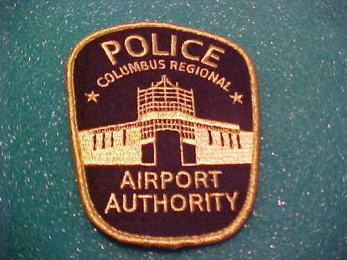 COLUMBUS OHIO REGIONAL AIRPORT POLICE PATCH SHOULDER SIZE UNUSED