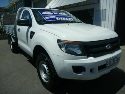 2012 Ford Ranger PX XL White 6 Speed Manual Cab Chassis Edwardstown Marion Area Preview
