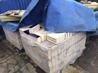 Blue glazed building bricks bought new, not used
