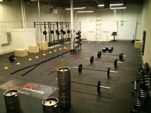 """Ultra Durable 4' x 6' x 3/4"""" Rubber Gym Flooring! Excellent for CrossFit, Heavy Lifting, Garage Gyms"""