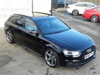 AUDI A4 2.0 TDI AVANT S LINE 174 BHP !! BLACK EDITION SPEC (black) 2012