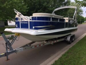2011 Hurricane Fundeck/Pontoon  236OB and Trailer