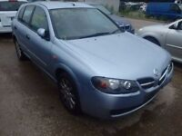 Nissan Almera 1.5 O/S Wing In Blue Breaking For Parts (2001)